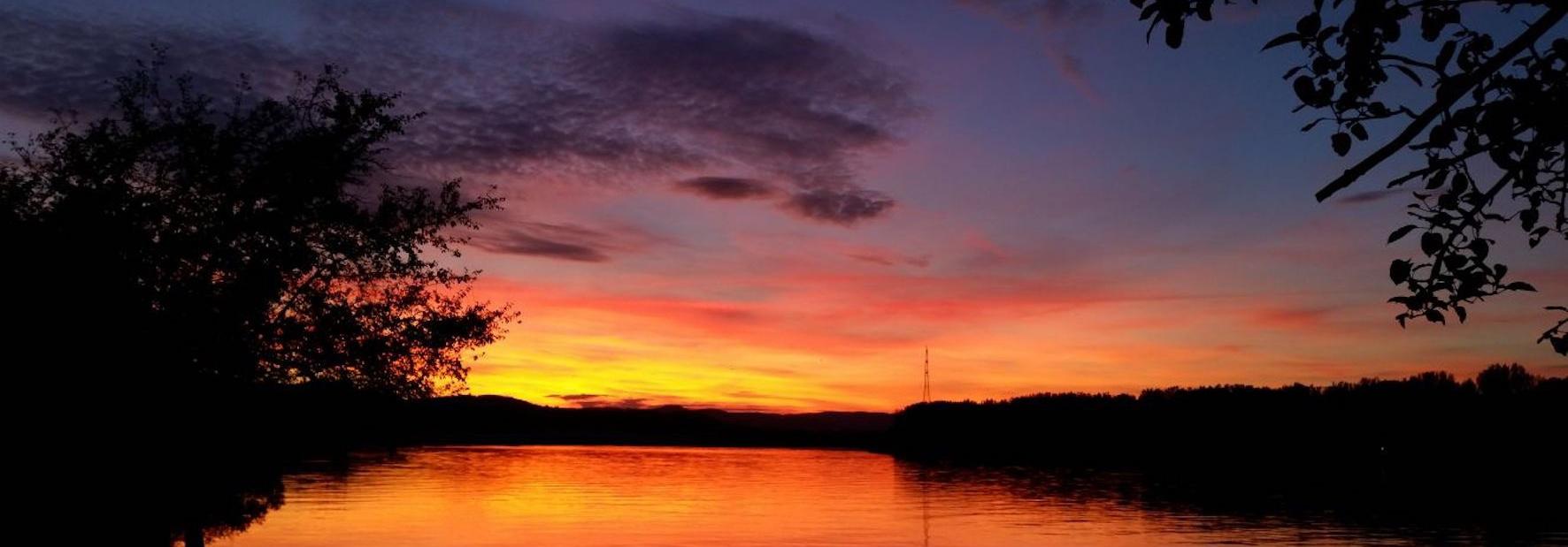 PortoVelo Sonnenuntergang an der Donau